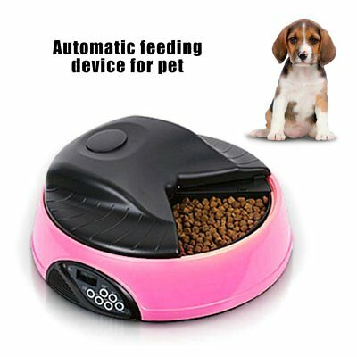 4 Meal Automatic LCD Pet Feeder Dog Cat Food Bowl Dispenser AUTO Digital R3