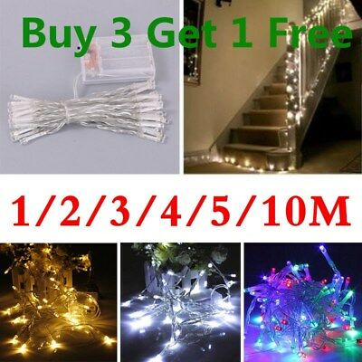 UK 20/50/100 LED Battery Micro Rice Wire Copper Fairy String Lights Party White