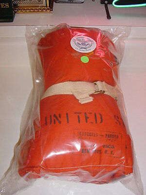 SS UNITED STATES LINES  Life-Jacket  /  Still In Wrapper w/ Name & Date Stamps