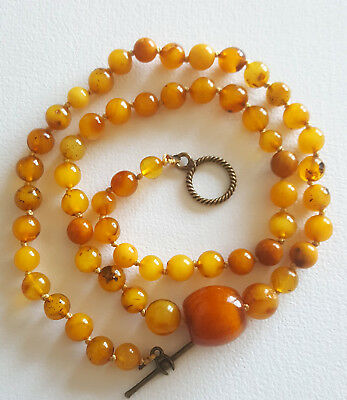 14g Antique Natural Baltic Amber Butterscotch Egg Yolk Amber Necklace amber