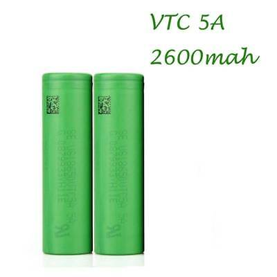New 2x 2600mAh 30A High Drain 18650 Li-ion Rechargeable Battery For Sony VTC5A