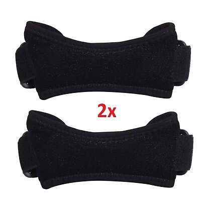 2x Adjustable Patella Tendon Strap Knee Support Jumpers Runners Pain Band Brace