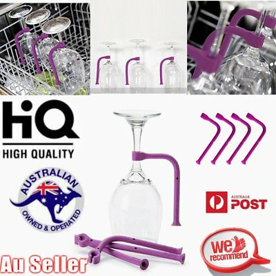 1/4PCS Stemware Saver Flexible Dishwasher Silicone For Safer Wine Glasses NM R3