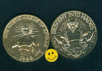DEVIL Token - Descent In To Hades- The Mystic Krewe Of Apollo Doubloon Coin 1971