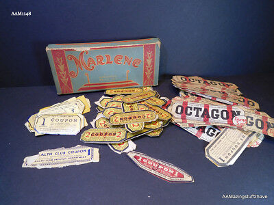 Vtg. Octagon Coupons In Marlene Box over 100+ coupon assortment