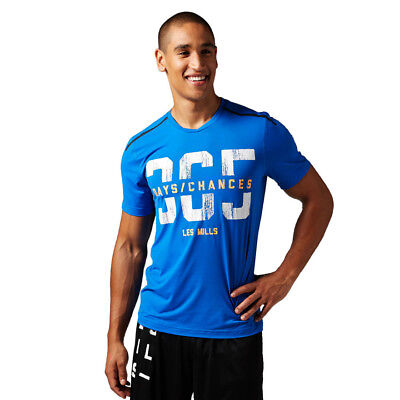 HERREN REEBOK LES Mills Short Sleeve Chill Tee Training
