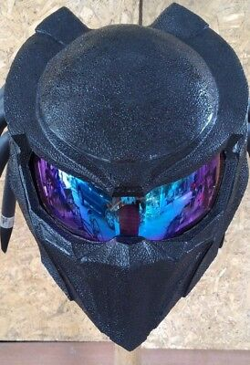 New  fancy handmade black predator motorcycle DOT& ECE Real-helmet size S-XXL