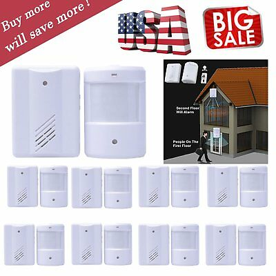 Lot Wireless Home Alarm PIR Motion Sensor System Infrared Detector Security TO