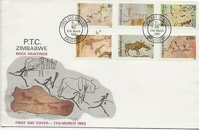 FDC - Zimbabwe - Rock Paintings - 1982 - (2726) (X)
