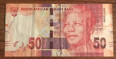 50 South African Rand South Africa Rand Bill Banknote Nelson Mandela