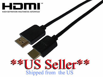 HDMI QTY-3, 6ft cable, v1.4 High Speed Full HD TV Audio Return 3D US SELLER