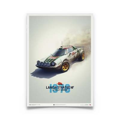 Unique & Limited Poster Lancia Stratos HF Alitalia San Remo Rally Car 50 x 70 cm