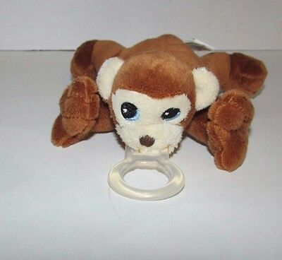 Nookums Paci Plushies plush monkey baby pacifier holder brown cream