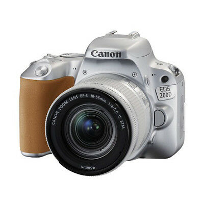 Canon EOS 200D with 18-55mm IS STM Lens Kit Silver Multi Ship in EU