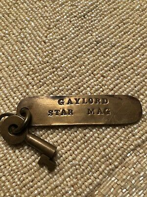 Brass Key Gaylord Michigan Fob