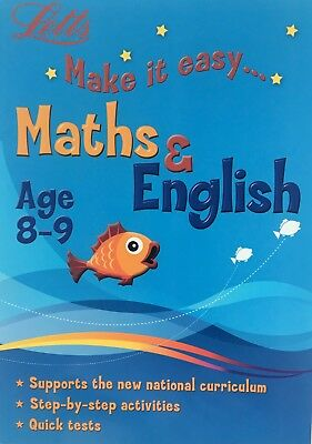 Letts Make It Easy Maths and English Workbook Age 8-9 KS2 Year 4 Latest Edition