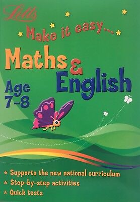 Letts Make it Easy English and Maths Workbooks Children Age 7-8 KS2 Year 3 NEW
