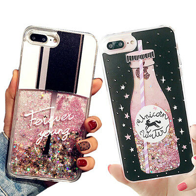 Lovely Cute Bling Dynamic Liquid Glitter Hard Case Cover For iPhone XS MAX 8Plus