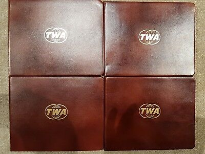 3 - Vintage TWA Old Logo Certificate Covers, Diploma Covers