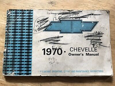 1970 Chevelle Owners Manual Third Edition- Chevrolet