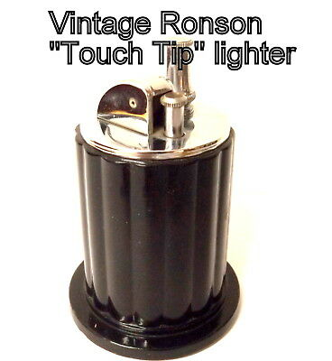 Vintage 1040s era, Post WW II, Ronson Grecian Touch Tip Table Lighter, Super