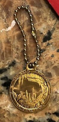 1950's-60S Carlsbad Caverns National Park Keychain 1 Inch