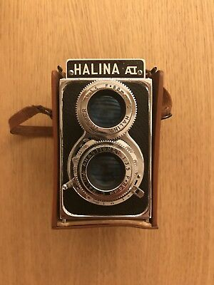 Vintage Halina A1 TLR Twin Lens Reflex Camera Anastigmat F=80mm Used Retro