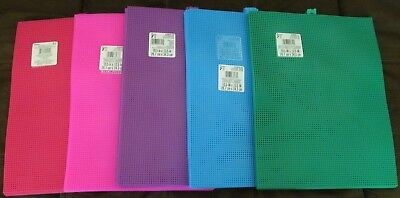 Plastic Canvas Sheets 7 Mesh 10.5 x 13.5 (3) pieces - 5 Colors to Choose From!