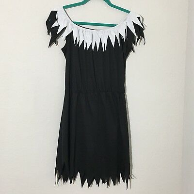 Adult Women's Black Dress Halloween Costume Witch Pirate Wench Zombie