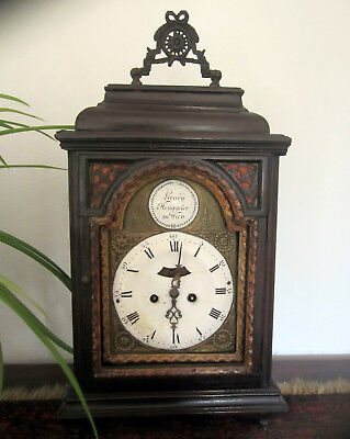 EXTREMELY RARE 18th century Austrian Bracket Clock, Mantel Clock, Circa 1750