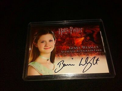 Harry Potter Goblet of Fire Bonnie Wright (Ginny Weasley) Auto Card