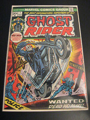 Wow! GHOST RIDER #1, 1973 Uber-Key Bk! (FN+) **Bright, Colorful, Glossy!**