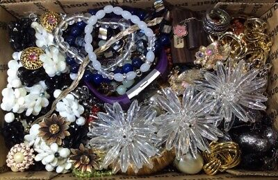 Huge Vintage - Now Jewelry Lot Estate Find Junk Drawer UNSEARCHED UNTESTED #457