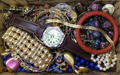 Huge Vintage - Now Jewelry Lot Estate Find Junk Drawer UNSEARCHED UNTESTED #458