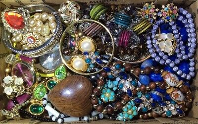 Huge Vintage - Now Jewelry Lot Estate Find Junk Drawer UNSEARCHED UNTESTED #460