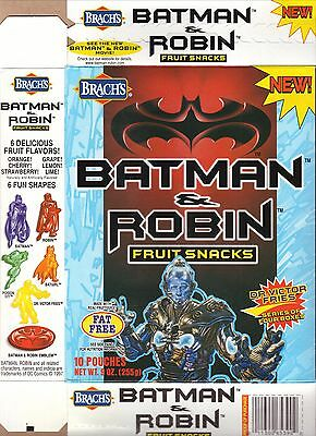 Mr Freeze/Arnold Schwarzenegger--1997 Brach's Batman & Robin Fruit Snacks Box