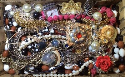Huge Vintage - Now Jewelry Lot Estate Find Junk Drawer UNSEARCHED UNTESTED #462