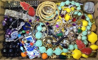 Huge Vintage - Now Jewelry Lot Estate Find Junk Drawer UNSEARCHED UNTESTED #465
