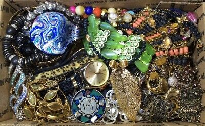 Huge Vintage - Now Jewelry Lot Estate Find Junk Drawer UNSEARCHED UNTESTED #466