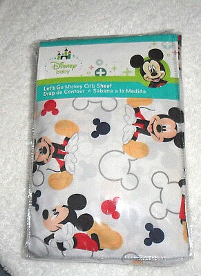 Disney Baby Let's Go Mickey Mickey Mouse Crib Sheet