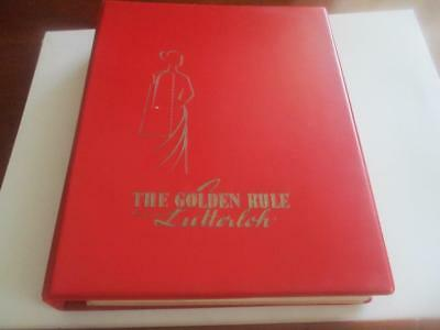 THE GOLDEN RULE Lutterloh Vintage Instructional  Sewing Pattern Book English