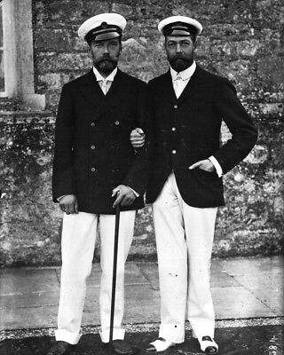 New 8x10 Photo: Royal Cousins Nicholas II of Russia and Future King George V