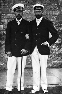 New 5x7 Photo: Royal Cousins Nicholas II of Russia and Future King George V