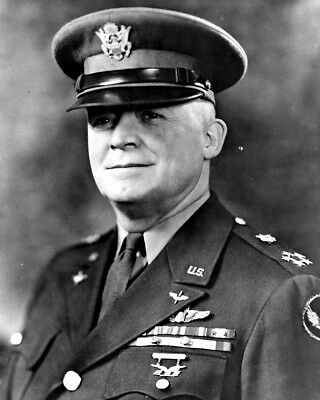 """New 8x10 World War II Photo: USAF and U.S. Army General Henry """"Hap"""" Arnold"""