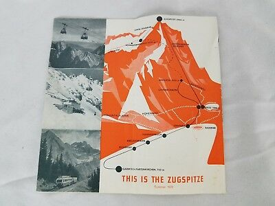 This is the Zugspitze 1970 Timetable Train Cable Car Brochure Austria Vintage
