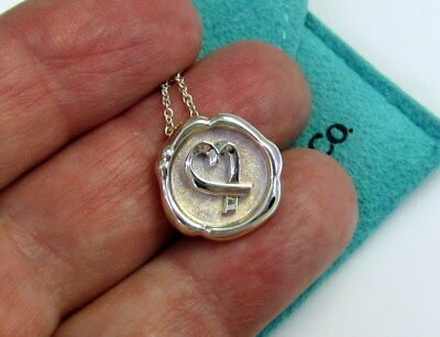 Tiffany & Co Signed PALOMA PICASSO Sterling Silver Loving Heart Tag Necklace