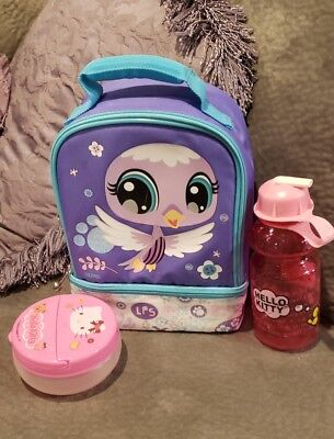Cute ~*rare Littlest Pet Shop Thermas Insulated Lunch Bag Box Cooler*~ + Extras