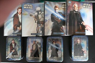 Star Wars Attack Of The Clones Trading Cards And Binder Sets