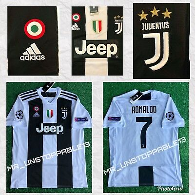 huge selection of 75ebf e825b ADIDAS ☀︎ JUVENTUS ☀︎ Cristiano Ronaldo ☀︎Champions League Patches ☀HOME  JERSEY