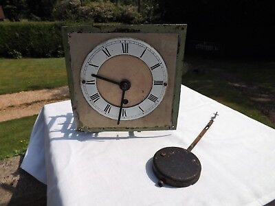 2 X Fusee Clock Movements One With Dial And Pendulum As Found